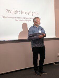 Stefan Johansson från Begripsam presenterar projektet Bossfight.