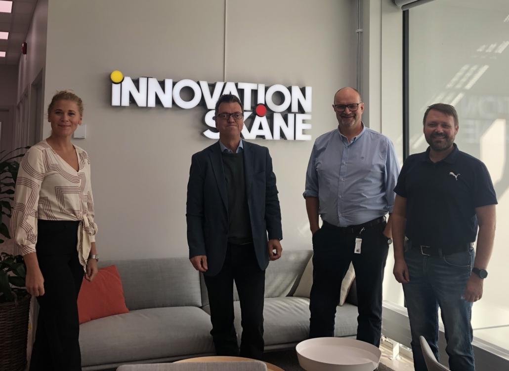 På bilden syns Thilia och Thomas från Funktionsrätt Skåne samt Anders Östergren och Fred Kjellsson från Innovation Skåne