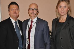 Från vänster Thomas Larsson, Rikard Larsson och Thilia Nyberg